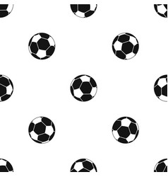 Football ball pattern seamless black vector