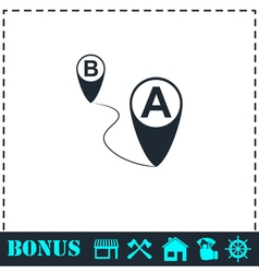 Gps icon flat vector