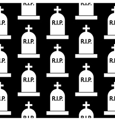 Grave icon seamless pattern vector