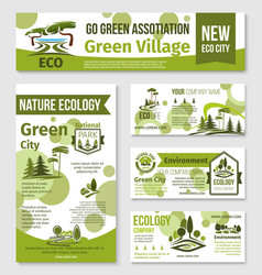 green city eco business banner template design vector image