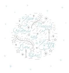 Handdrawn christmas card vector
