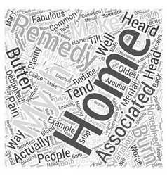 Home remedy myths debunked word cloud concept vector