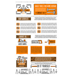 home repair service landing page template vector image