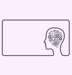 Human head gears frame vector