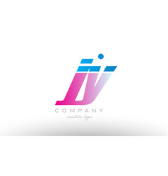 jy j y alphabet letter combination pink blue bold vector image