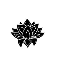 lotus flowers icon vector image vector image