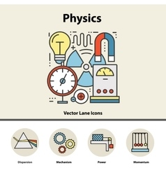 Modern color concept of physics for school vector