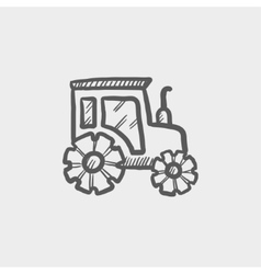 Offroad car sketch icon vector
