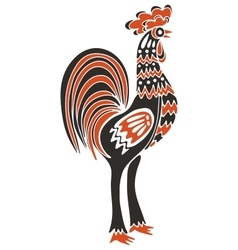Rooster symbol of new year 2017 vector