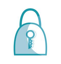 Silhouette padlock security tool service vector