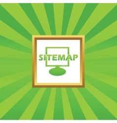 Sitemap picture icon vector