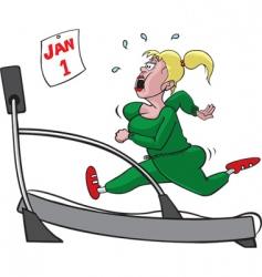 treadmill woman vector image vector image