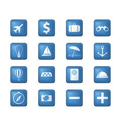 Travel icons square vector