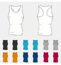 Set of colored singlets templates for men vector image