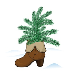Fir tree in the boot vector