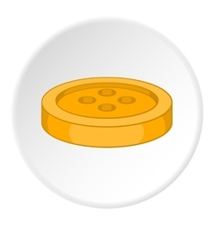 Button icon flat style vector image