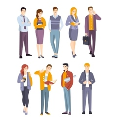 Young professional confident people set vector