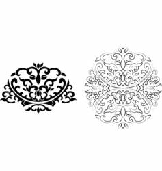 Floral curves ornament vector