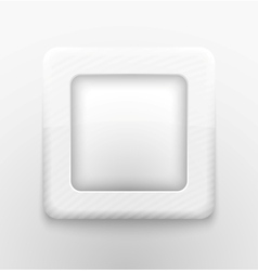 Square white button vector