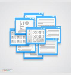 flat windows frame collage vector image