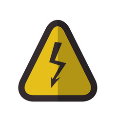High voltage caution danger sign vector