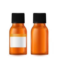 Brown pills bottle vector