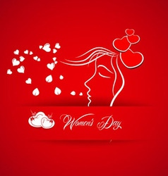 Womens day abstract background vector image