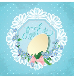 easter lace card 380 vector image