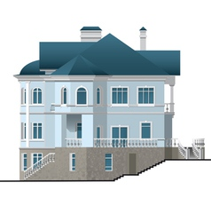 Facade house vector