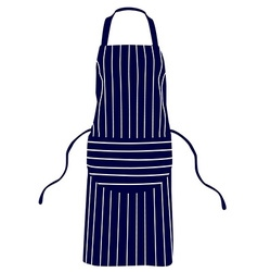 Blue striped apron vector