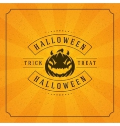 Happy halloween background and pumpkin vector