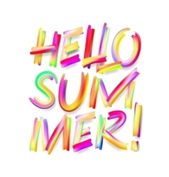Hello Summer typographic design on isolated white vector image
