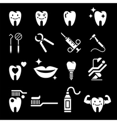 Dental tooth icons vector