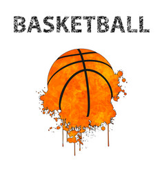 Basketball as stains vector