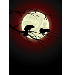 crows vector image vector image