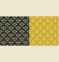 damask vintage seamless pattern background vector image vector image