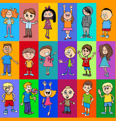Decorative pattern design with children vector
