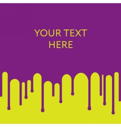 Dripping purple paint background design template vector