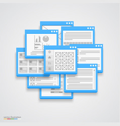 Flat windows frame collage vector