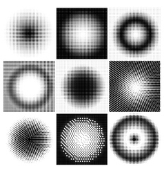 Halftone dots circles vector image