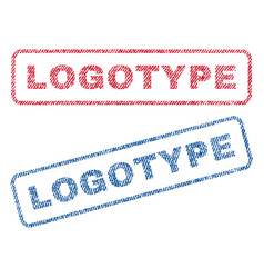 Logotype textile stamps vector