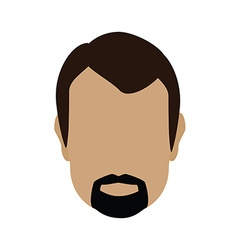 Man face vector image