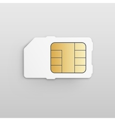 Mobile Cellular Phone Sim Card Chip vector image