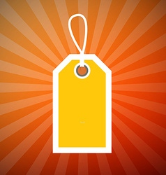 Orange Retro Star Shaped Background with Yellow vector image