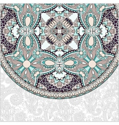 ornamental floral template with circle ethnic dish vector image