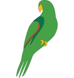 Parrot color 02 vector image