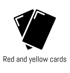 red yellow card icon simple black style vector image