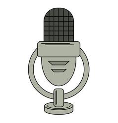 Retro microphone voice icon vector