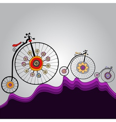 ride of happiness around the world vector image vector image