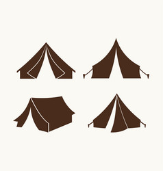 set of tents for logo vector image vector image